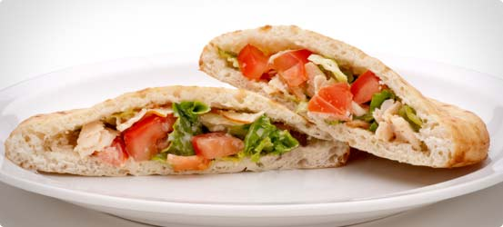 Chicken mini pitta pockets